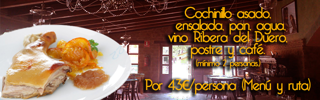 menu cochinillo