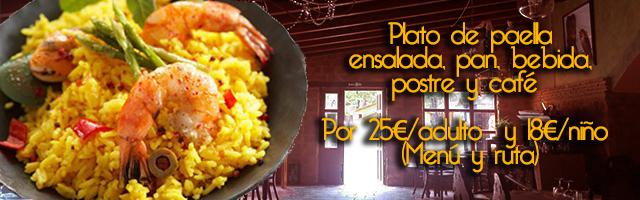 menu paella piraguismo
